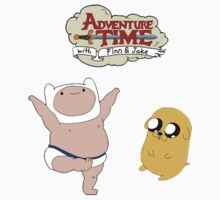 Adventure Time Baby Finn and Jake One Piece - Long Sleeve
