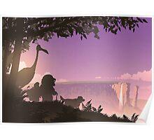 Paradise Falls at Dusk Poster
