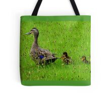 Come on Kids Move Along! - Mallard Ducks - NZ Tote Bag