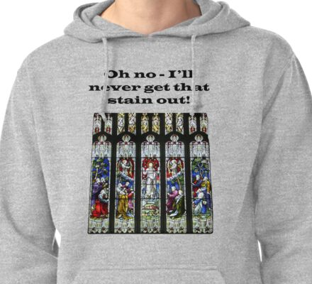 Oh no - I'll never get that stain out! (Black print) Pullover Hoodie