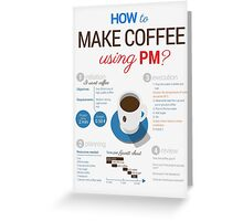 How to make coffee using project management? Vertical poster Greeting Card