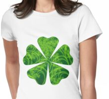 Fractal Clover Womens Fitted T-Shirt