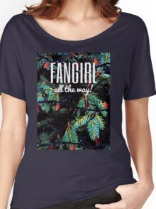 Fangirl All the Way! Women's Relaxed Fit T-Shirt