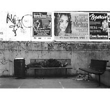 Sleeping Man Photographic Print