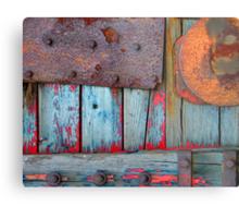 Blue Shunting Wagon Metal Print
