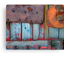 Blue Shunting Wagon Canvas Print