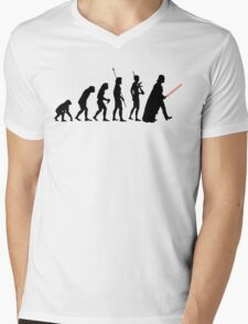 Dark side of Evolution Mens V-Neck T-Shirt
