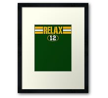 Relax Green Bay Framed Print
