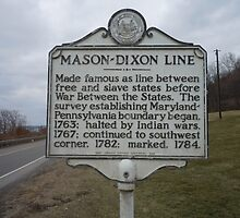 MASON-DIXON LINE by James Gibbs