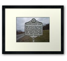 MASON-DIXON LINE Framed Print