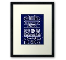 CROSS THE OCEAN Framed Print