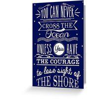 CROSS THE OCEAN Greeting Card
