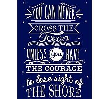 CROSS THE OCEAN Photographic Print