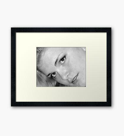 The Blond... Framed Print