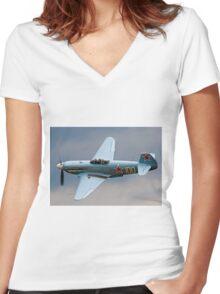 New-build Yakovlev Yak-3UA D-FJAK Women's Fitted V-Neck T-Shirt