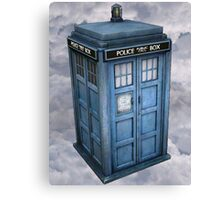 TARDIS in the Clouds Canvas Print