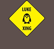 Luke XING (Crossing Sign) -Penguin Womens Fitted T-Shirt