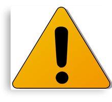 Hazard warning exclamation mark sign Canvas Print