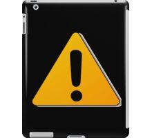 Hazard warning exclamation mark sign iPad Case/Skin