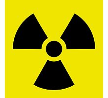 Ionizing Radiation sign - U+2622 Photographic Print