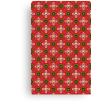Christmas Garden Pattern Canvas Print