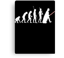 The Dark Side Of Evolution - White  Canvas Print