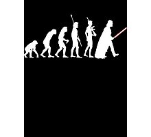 The Dark Side Of Evolution - White  Photographic Print