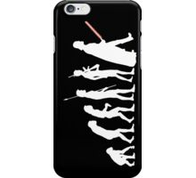 The Dark Side Of Evolution - White  iPhone Case/Skin