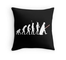 The Dark Side Of Evolution - White  Throw Pillow