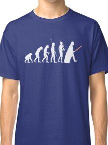 The Dark Side Of Evolution - White  Classic T-Shirt