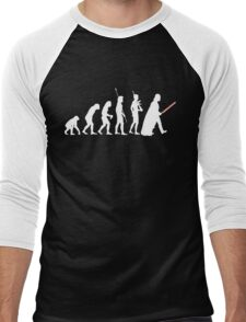 The Dark Side Of Evolution - White  Men's Baseball ¾ T-Shirt