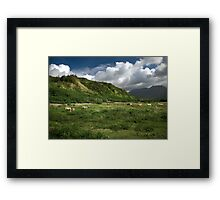 Approaching Na Pali Framed Print