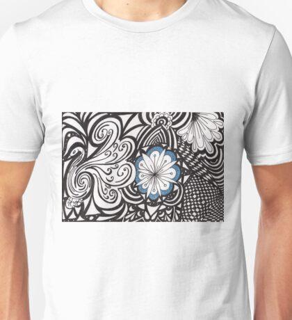 Calm blue center Unisex T-Shirt