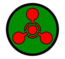 Chemical weapon symbol. Hazard sign. Photographic Print