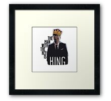 Moriarty - The Man with the Key is King Framed Print