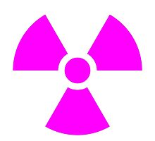 Nuclear girl sign. Symbol. Pink by 2monthsoff
