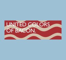 United Colors of Bacon Baby Tee