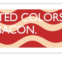 United Colors of Bacon Sticker