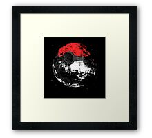 Pokeball DS Spaceship Framed Print