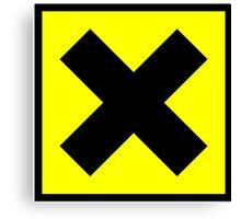 Warning toxic hazard cross Canvas Print