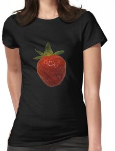 Strawberry T Womens Fitted T-Shirt