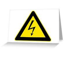 Warning sign. Lightning bolt.  Greeting Card