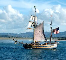 Old Galleon Ship by Ray Rozelle