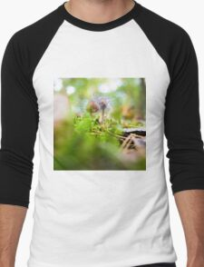 hairy mushrooms Men's Baseball ¾ T-Shirt