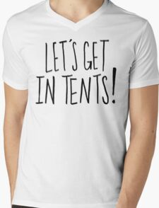 In Tents! Mens V-Neck T-Shirt