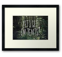 In Tents! Framed Print