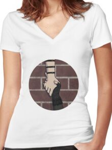 I got you - Clintasha Women's Fitted V-Neck T-Shirt