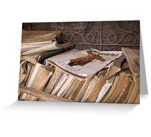 Abandoned books Greeting Card