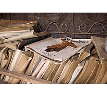Abandoned books Photographic Print