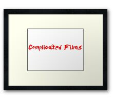 Complicated Films Script Framed Print